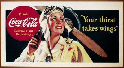 Старый рекламный плакат Coca-Cola
