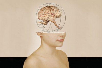 Коллаж с мозгом