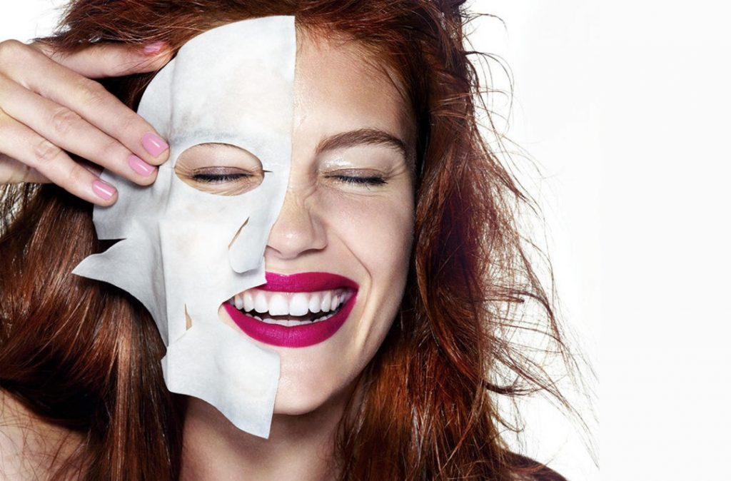 Тканевая маска для лица своими руками